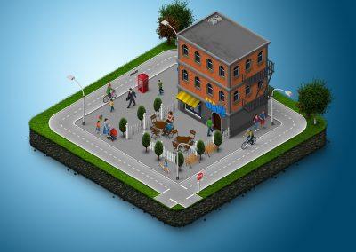 Historisches 3D-Stadtmodell Karlsruhe: Erstellung und Publikation