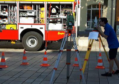 Das Amt Vermessung & Flurneuordnung an der Ursulasäule in der Offenburger Hauptstraße