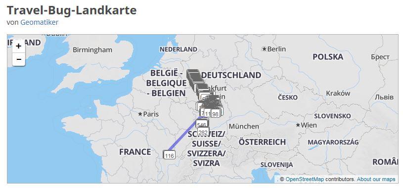 """Die Reise des Travelbugs """"Der Geomatiker"""""""
